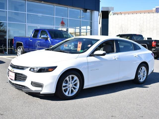 Photo 2016 Certified Used Chevrolet Malibu Sedan LT w1LT Summit White For Sale Manchester NH  Nashua  StockP5683