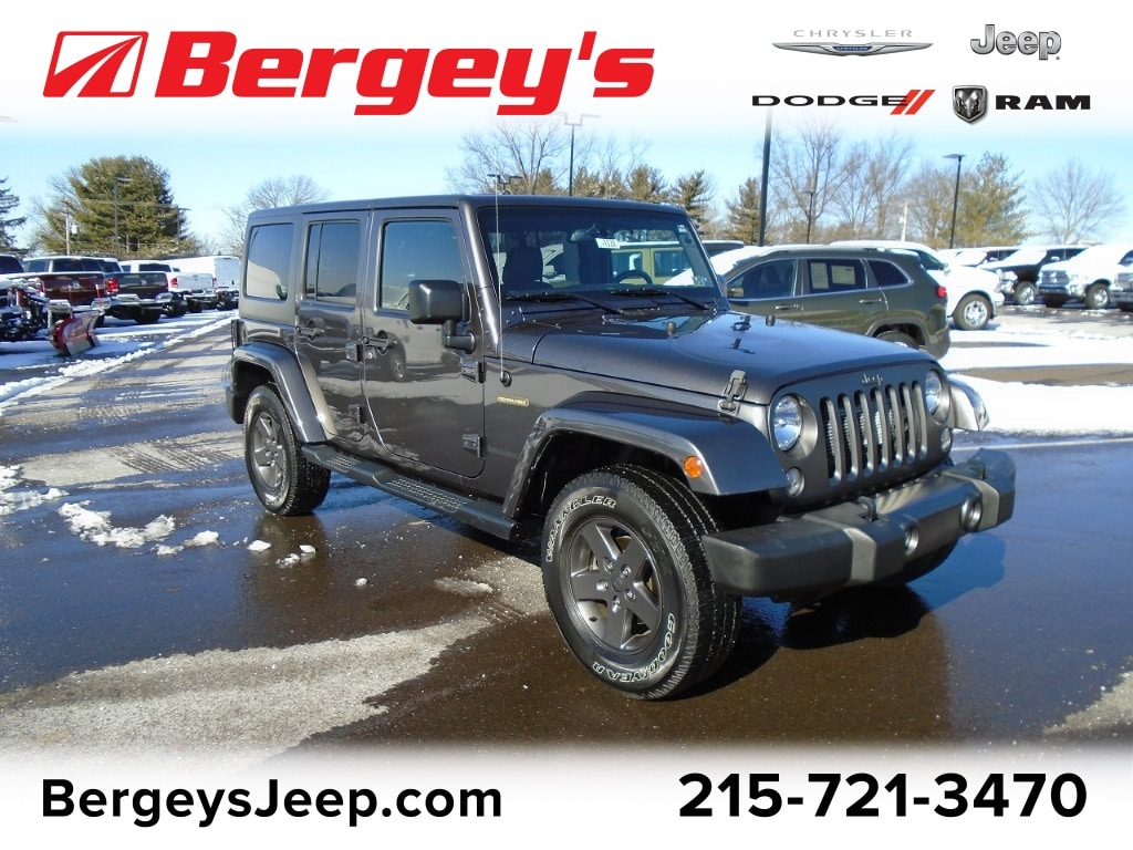 Photo Certified Used 2016 Jeep Wrangler Unlimited 4WD Freedom Ed. Hard Top Auto in Souderton