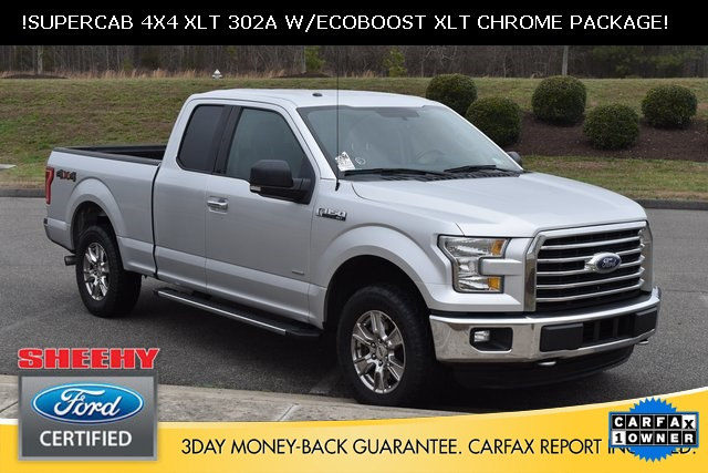 Photo Certified Pre-Owned 2015 Ford F-150 Ford Certified XLT 4X4 Truck SuperCab Styleside V-6 cyl in Ashland, VA