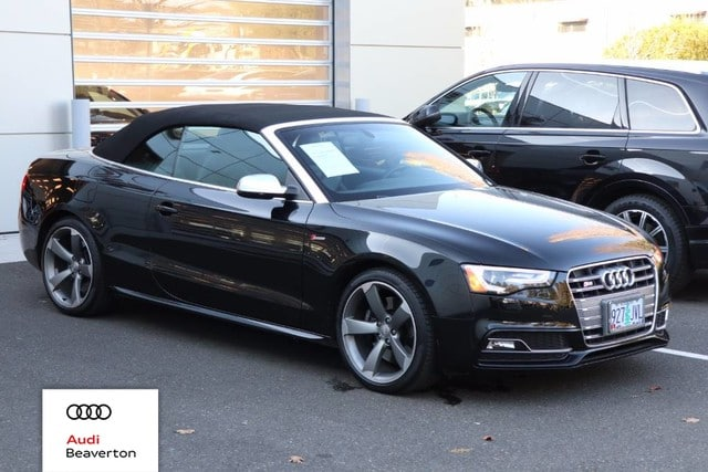 Photo Certified Pre-Owned 2017 Audi S5 3.0T quattro Technology Carbon Adaptive Suspension Cabriolet for Sale in Beaverton,OR