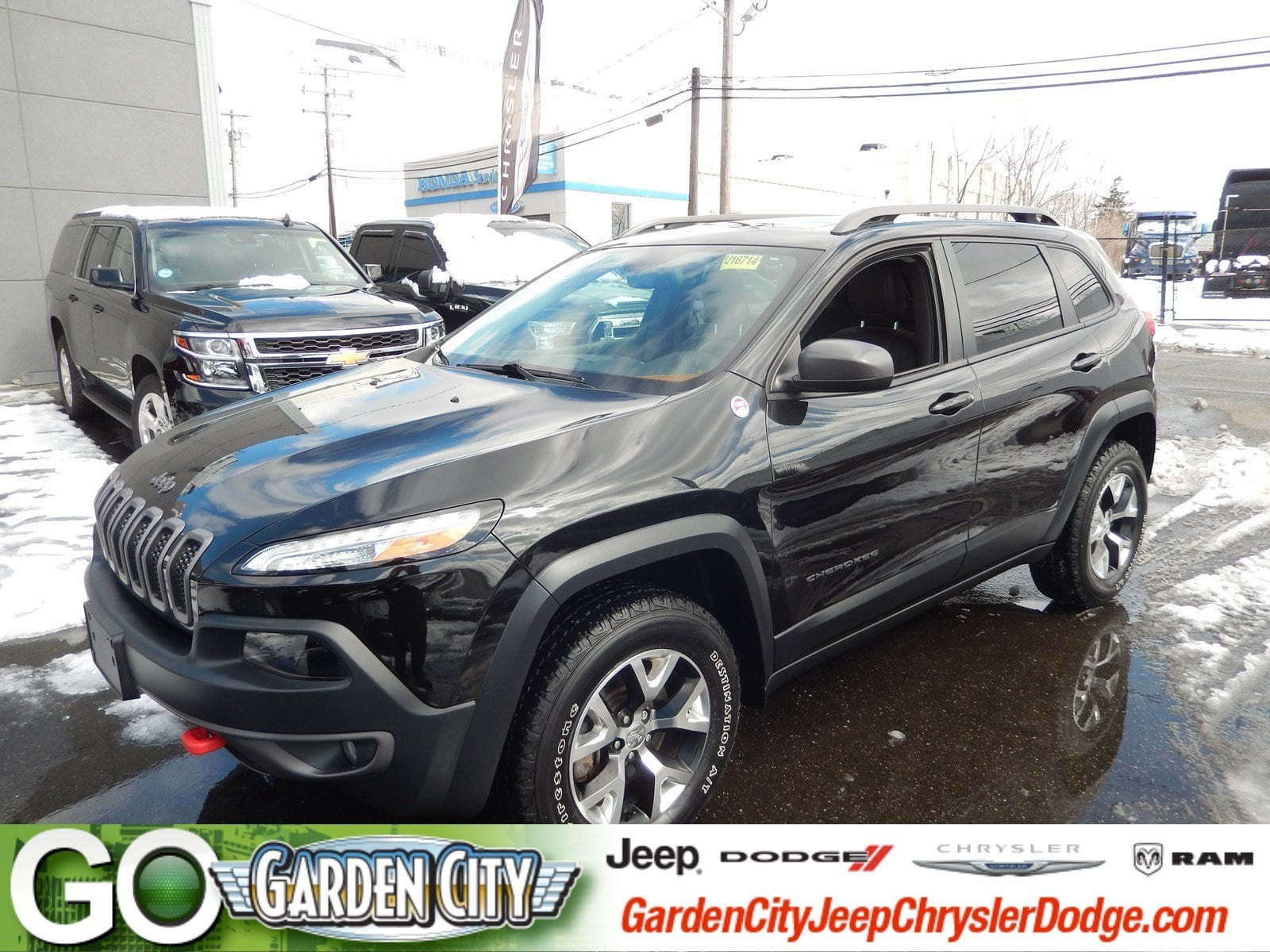 Photo Certified Used 2015 Jeep Cherokee Trailhawk 4WD Trailhawk For Sale  Hempstead, Long Island, NY