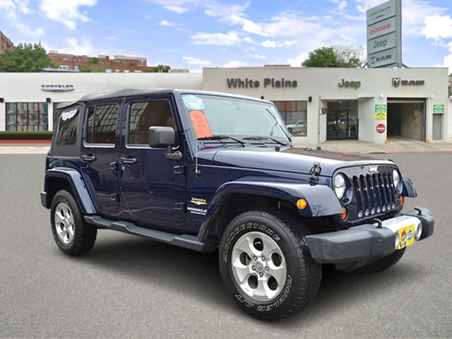 Photo 2013 Jeep Wrangler Unlimited Sahara 4DR Side Steps, Soft Top, P Sport Utility in White Plains, NY