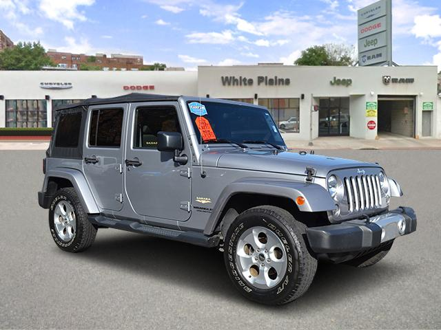 Photo 2015 Jeep Wrangler Unlimited Sahara Soft Top, Sidesteps, NAV Sport Utility in White Plains, NY