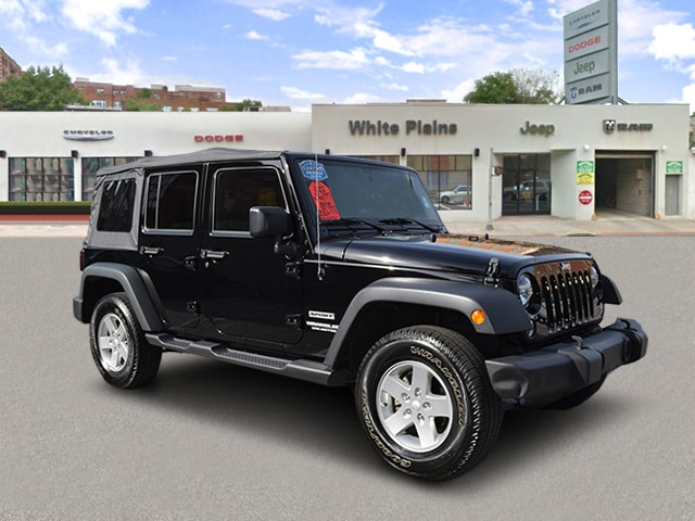 Photo 2015 Jeep Wrangler Unlimited Sport 4WD, Manual, Soft Top, Side Sport Utility in White Plains, NY
