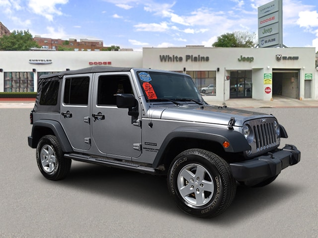 Photo 2015 Jeep Wrangler Unlimited Sport Soft Top, Power Package, Blu Sport Utility in White Plains, NY