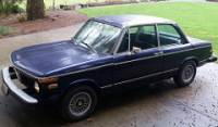 1975 BMW 2002 2dr Sedan Rare Auto Trans. Dark Blue/Black