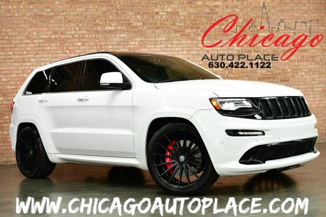 Photo 2014 Jeep Grand Cherokee SRT8 - 6.4L SRT HEMI V8 4WD NAVIGATION BACKUP CAMERA KEYLESS GO PANORAMIC ROOF CUSTOM AUDIO SYSTEM SPORZA 22 WHEELS AFE INTAKE BILLET CATCH CAN