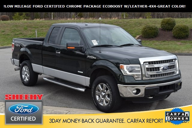 Photo Certified Pre-Owned 2014 Ford F-150 LOW Miles-XLT-Leather-Green GEM IN Color Truck SuperCab Styleside in Ashland, VA