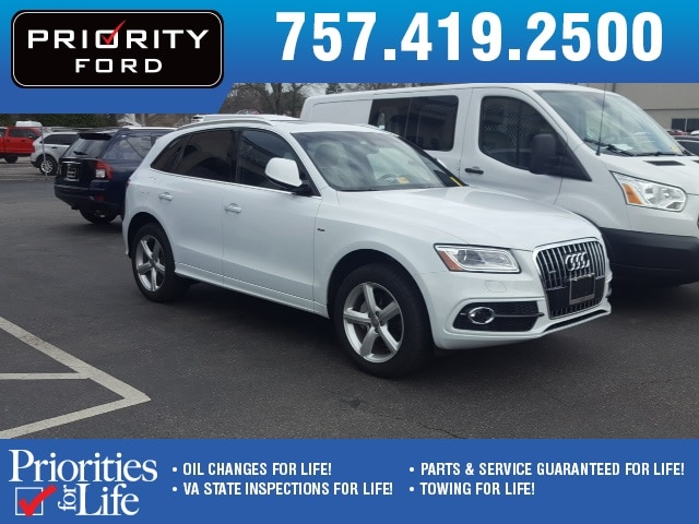 Photo Used 2017 Audi Q5 2.0T Premium SUV TFSI four-cylinder engine For Sale at Priority