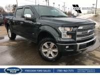 Used 2015 Ford F-150 Platinum Leather, Navigation, Sunroof Four Wheel Drive 4 Door Pickup