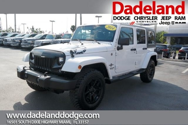 Photo Certified Used 2014 Jeep Wrangler Unlimited Freedom Edition SUV in Miami