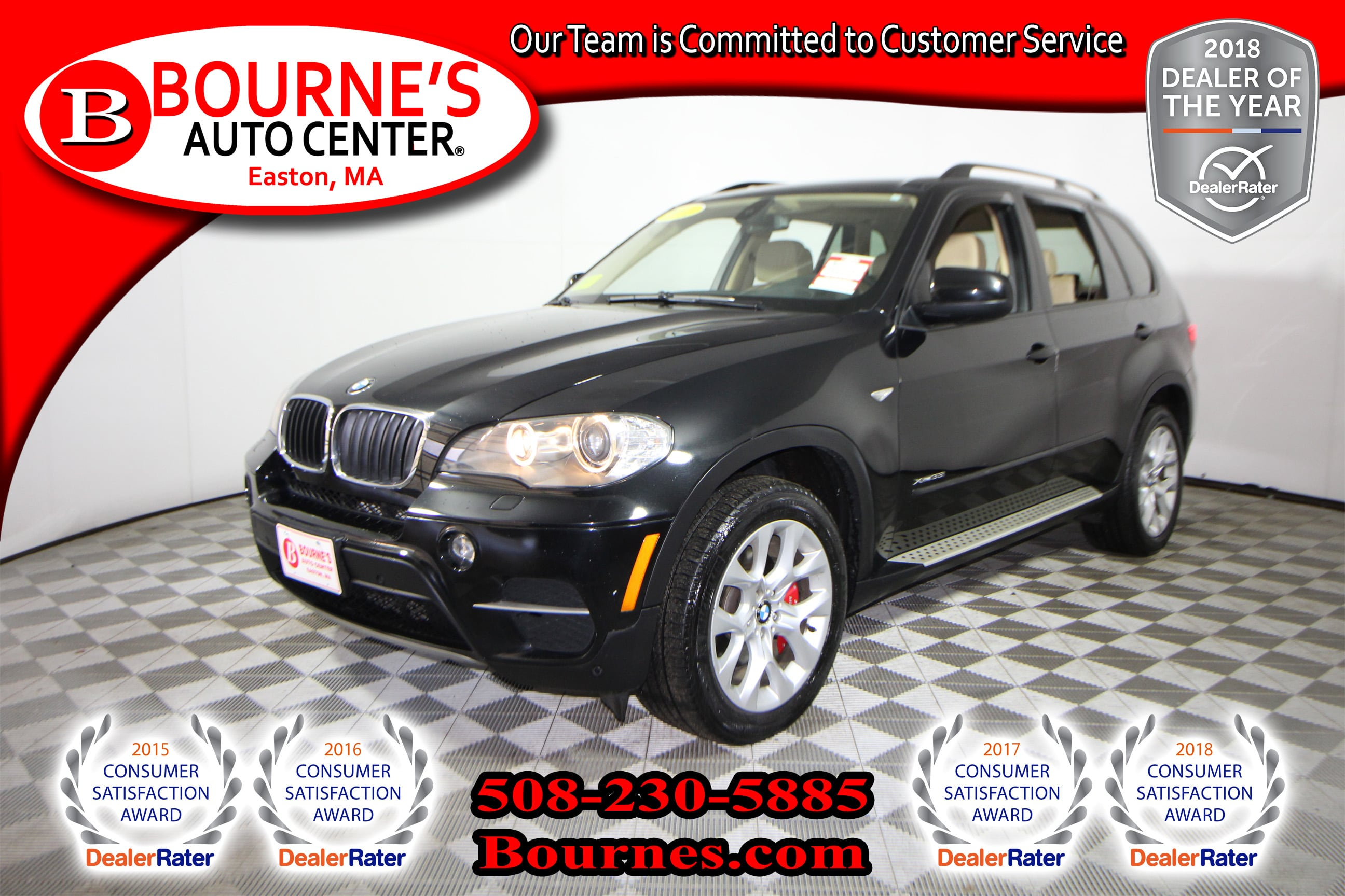 Photo 2011 BMW X5 xDrive35i Premium w Navigation,Leather,Sunroof,Heated Front Seats, And Backup Camera.