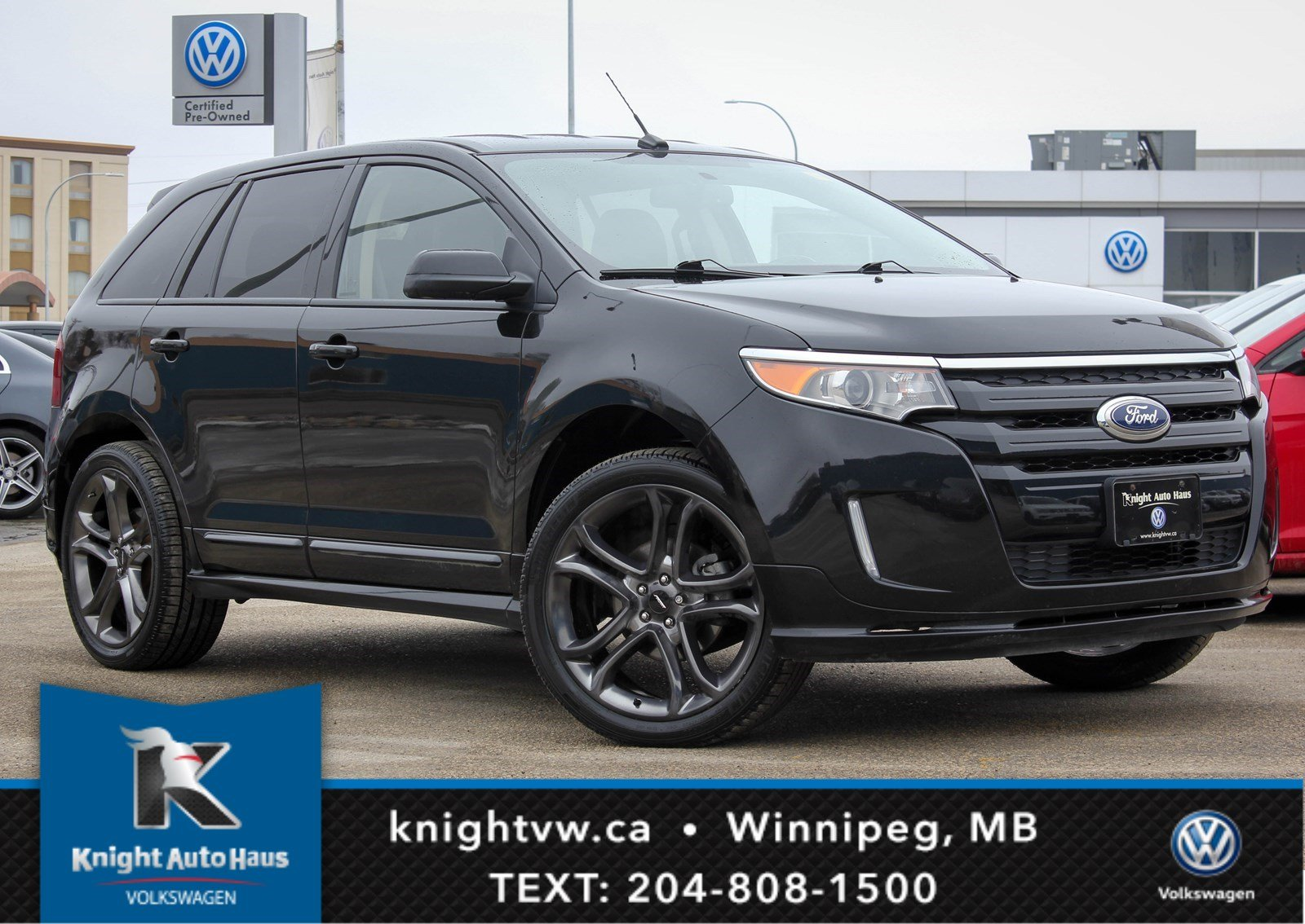 Photo Pre-Owned 2013 Ford Edge Sport AWD w LeatherRemote StartBackup CamNavWinter Tires  Rims AWD Station Wagon