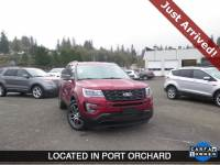 PRE-OWNED 2017 FORD EXPLORER SPORT WITH NAVIGATION & AWD