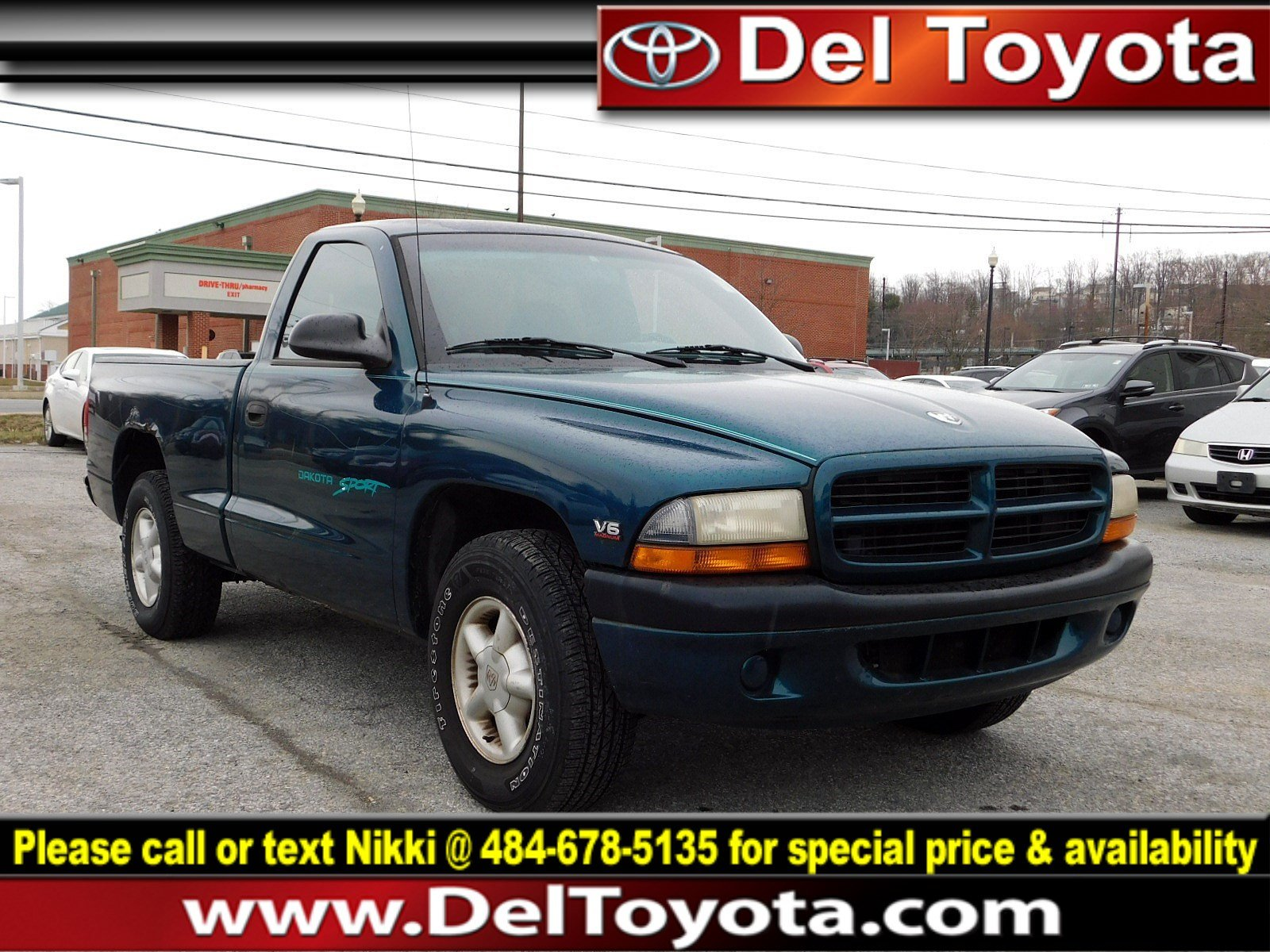 Photo Used 1998 Dodge Dakota For Sale  Serving Thorndale, West Chester, Thorndale, Coatesville, PA  VIN 1B7FL26X0WS728724
