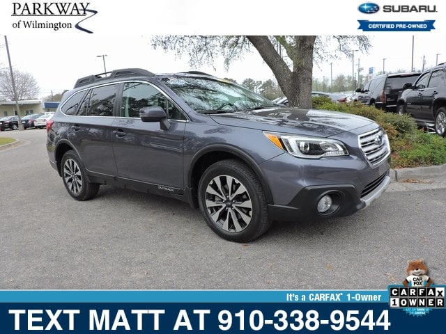 Photo Certified Used 2016 Subaru Outback 2.5i Limited For Sale  Wilmington NC