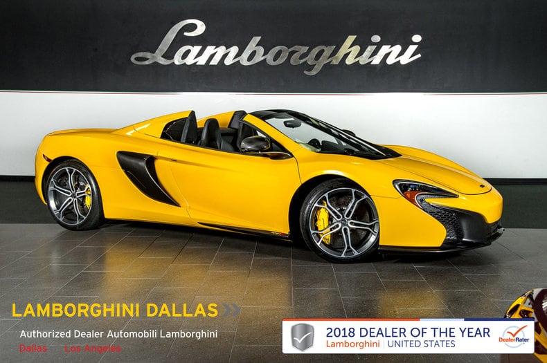 Photo Used 2015 McLaren 650s Spider For Sale Richardson,TX  Stock LC514 VIN SBM11FAA2FW005032