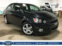 Used 2014 Chevrolet Sonic LT Sunroof, Heated Seats, Backup Camera Front Wheel Drive 4 Door Car