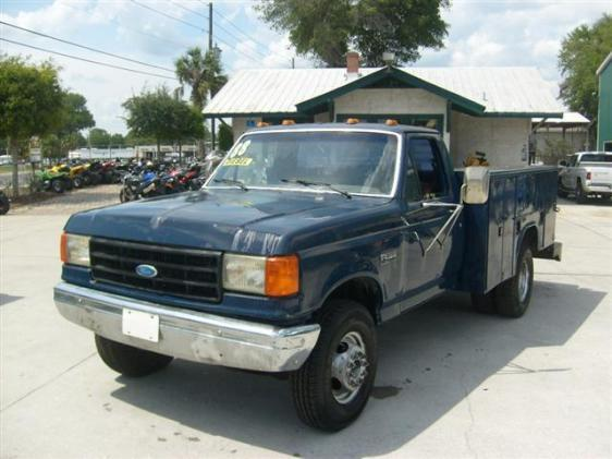 Photo 1988 Ford F-350 Diesel Utility Truck with tool boxes built in runs