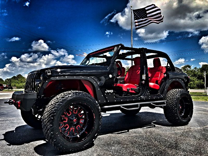 Photo Used 2018 Jeep All-New Wrangler Unlimited JL OCD FENDER DELETE CHERRY-BOMB RED