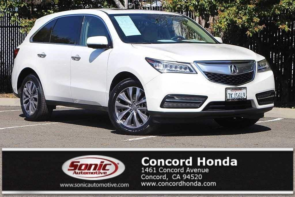 Photo Used 2015 Acura MDX 3.5L Technology Package For Sale in Colma CA  Stock SFB014375  San Francisco Bay Area