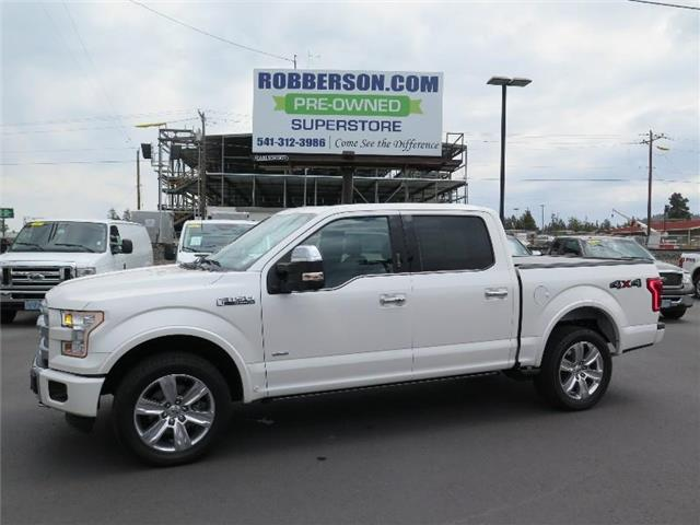 Photo Used 2015 Ford F-150 Platinum 4x4 SuperCrew Cab Styleside 5.5 ft. box 1 For Sale Bend, OR