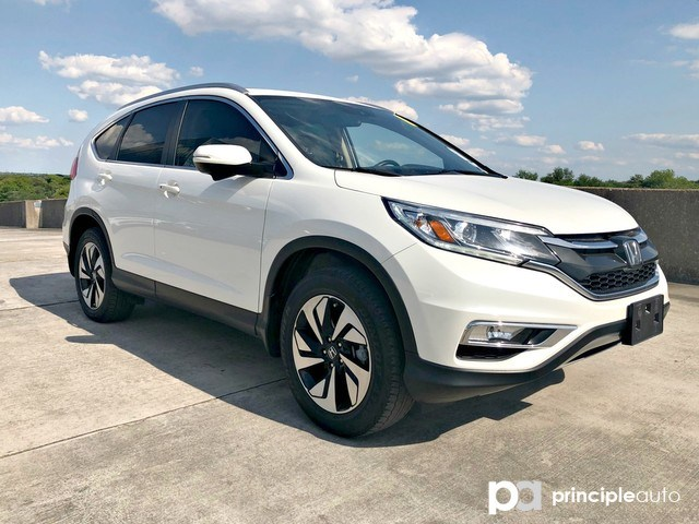 Photo Used 2016 Honda CR-V Touring, Alloy Wheels, Leather Seats, Sunroof, Pow SUV For Sale San Antonio, TX