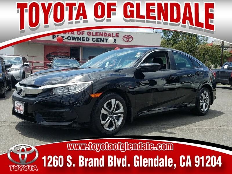 Photo Used 2016 Honda Civic, Glendale, CA, , Toyota of Glendale Serving Los Angeles  2HGFC2F52GH567138