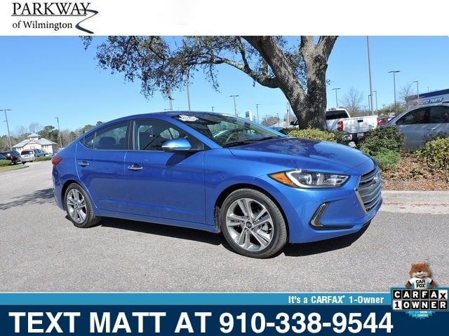 Photo Used 2017 Hyundai Elantra Limited For Sale  Wilmington NC