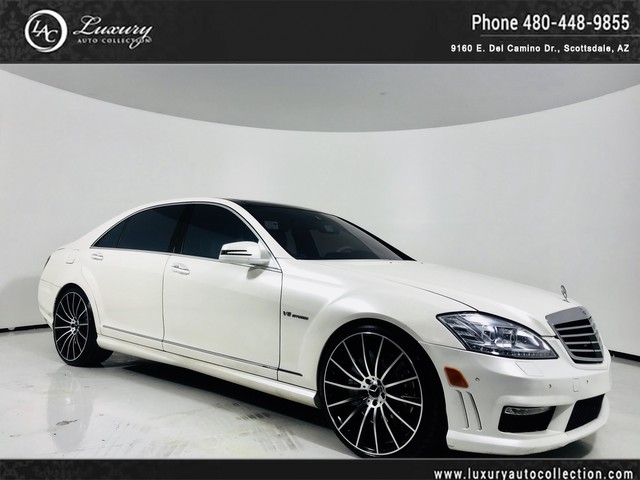 Photo 2013 Mercedes-Benz S-Class S 63 AMG 22 Custom Wheels  WhiteWhite  Pano Roof  White Wood  14 12 15 Rear Wheel Drive Sedan