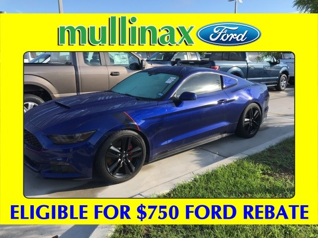 Photo Used 2015 Ford Mustang Ecoboost Premium W Performance Package, 19 Wheels Coupe I-4 cyl in Kissimmee, FL