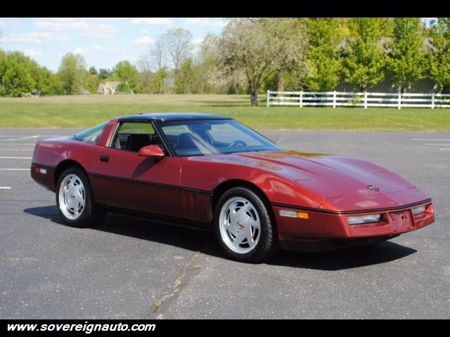 Photo 1988 Chevrolet Corvette Auto Leather Sport Seats Blue Removeable Glass Top for sale in Flushing MI