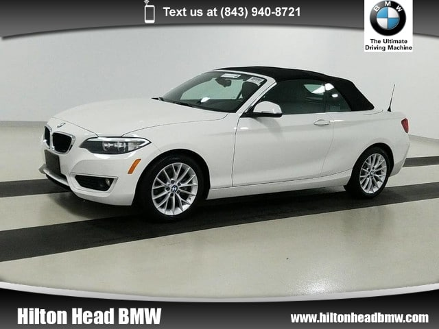 Photo 2015 BMW 2 Series 228i  BMW CPO Warranty  One Owner  Heated Seats Convertible Rear-wheel Drive