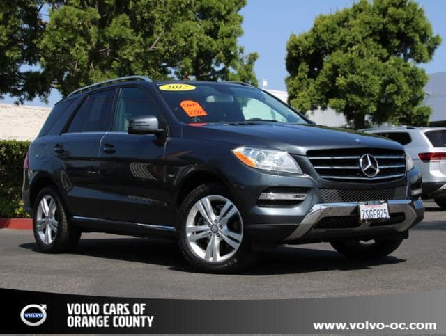 Photo Used 2012 Mercedes-Benz M-Class 4matic ML 350 SUV for sale in Santa Ana CA