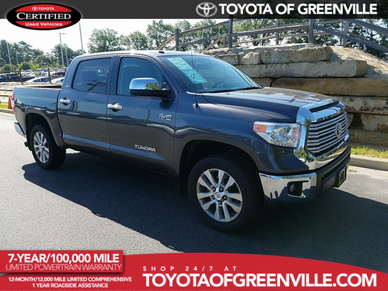 Photo Certified 2014 Toyota Tundra 4x4 Limited 5.7L V8 FFV 26 Truck Crew Max in Greenville SC