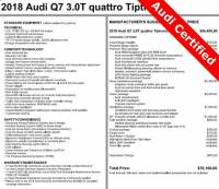 Pre-Owned 2018 Audi Q7 For Sale near Pittsburgh, PA   Near Greensburg, McKeesport, & Monroeville, PA   VIN:WA1LAAF75JD019572