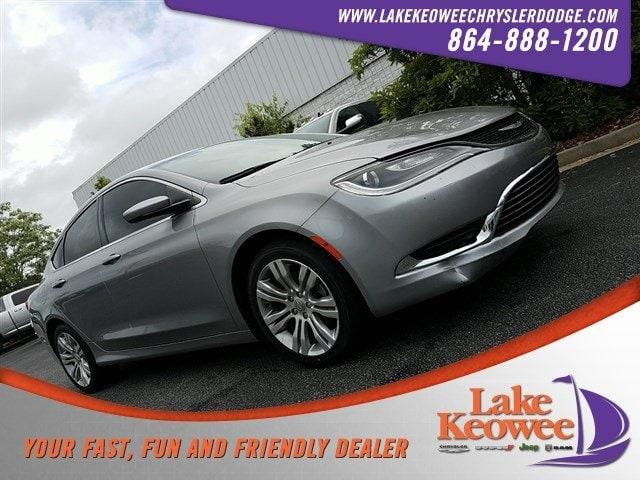 Photo Certified Used 2015 Chrysler 200 Limited Sedan For Sale NearAnderson, Greenville, Seneca SC