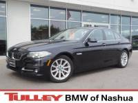 2015 Certified Used BMW 5 Series Sedan xDrive Black Sapphire For Sale Manchester NH & Nashua   Stock:B18895A