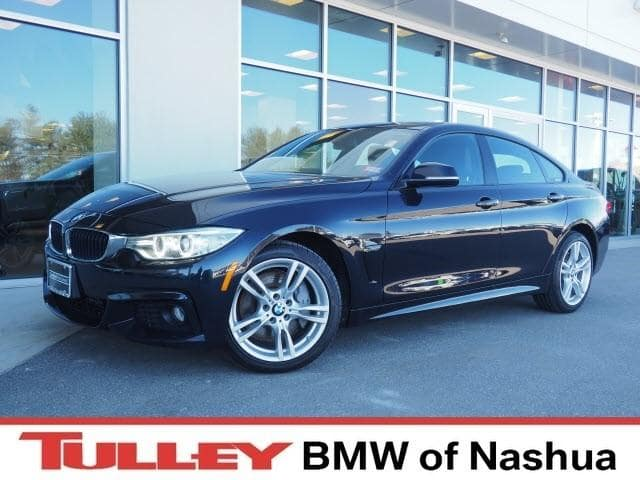 Photo 2016 Certified Used BMW 4 Series Gran Coupe xDrive wSULEV Carbon Black For Sale Manchester NH  Nashua  StockB18825A