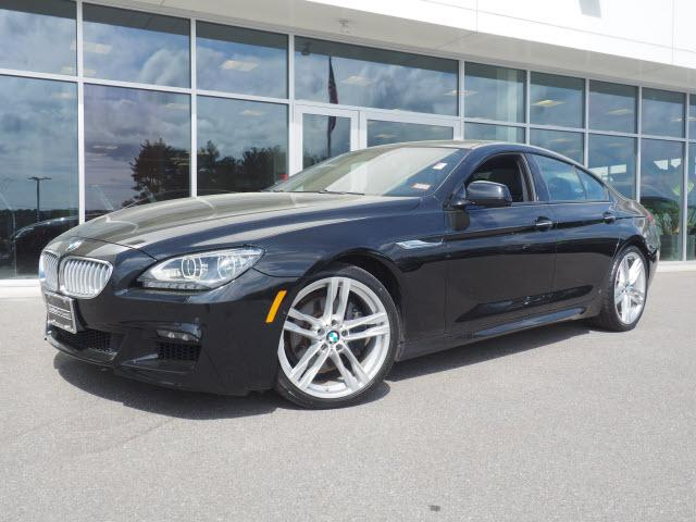 Photo 2015 Certified Used BMW 6 Series Gran Coupe Black Sapphire For Sale Manchester NH  Nashua  StockG18510A
