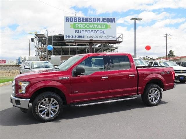 Photo Used 2015 Ford F-150 XLT 4x4 SuperCrew Cab Styleside 5.5 ft. box 145 in CREW CAB SHORT BED TRUCK For Sale Bend, OR