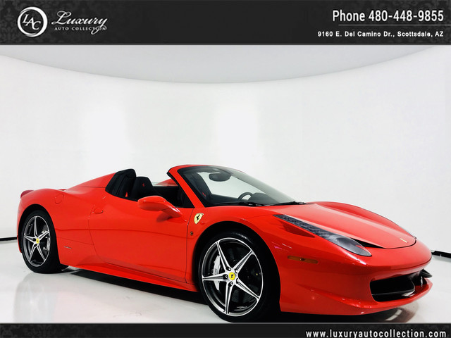 Photo 2014 Ferrari 458 Italia Spider Full Carbon Int  Carbon Race Seats  Shields  15 13 Rear Wheel Drive Convertible