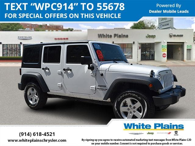 Photo 2016 Jeep Wrangler Unlimited Sport 4DR Power Package, Hard Top Sport Utility in White Plains, NY