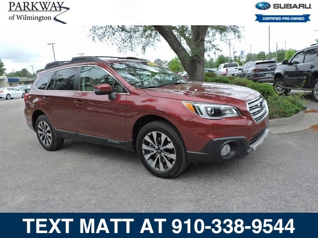 Photo Certified Used 2017 Subaru Outback 2.5i Limited For Sale  Wilmington NC