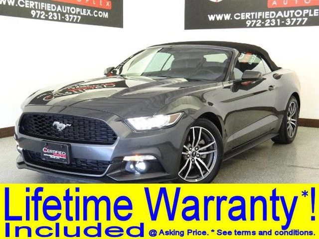 Photo 2017 Ford MUSTANG CONVERTIBLE ECOBOOST PREMIUM CONVERTIBLE SOFT TOP APPLE CARPLAY ANDROID AUTO