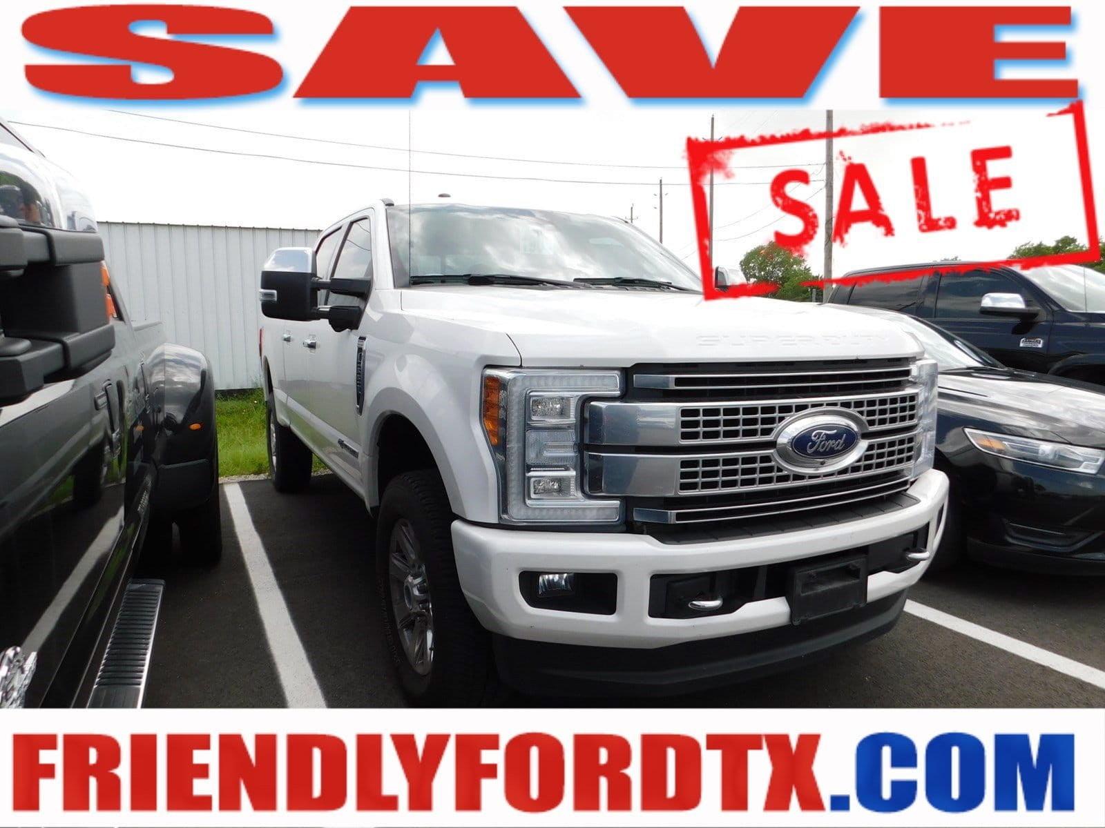 Photo Used 2017 Ford F-250 Platinum Truck Crew Cab V-8 cyl for Sale in Crosby near Houston