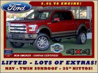 2015 Ford F-150 Lariat SuperCrew 4x4 - LIFTED - NAV - SUNROOFS!