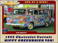 1962 Chevrolet Corvair HIPPY GREENBRIER VAN! ONE OF A KIND!