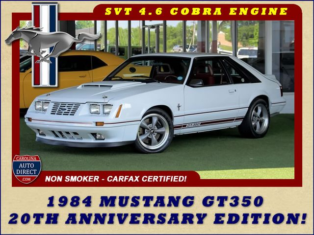 Photo 1984 Ford Mustang GT350 20th Anniversary Edition RARE