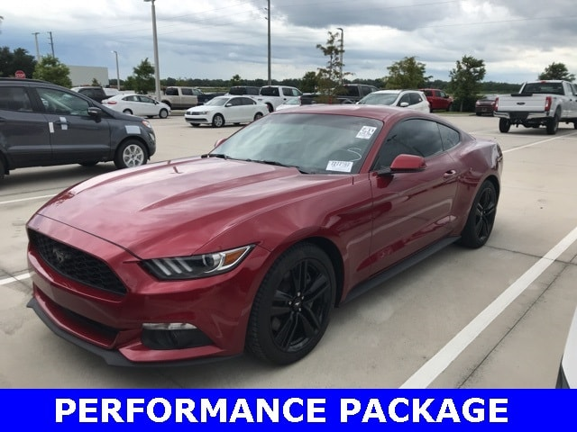 Photo Used 2016 Ford Mustang Ecoboost Premium W Performance Package, 19 Wheels Coupe I-4 cyl in Kissimmee, FL